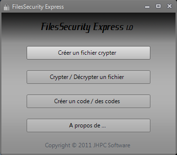 FilesSecurity Express 1.1 Menu001v1